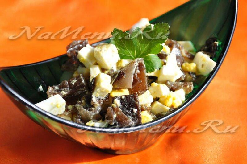 Салат с морским грибом рецепт с фото