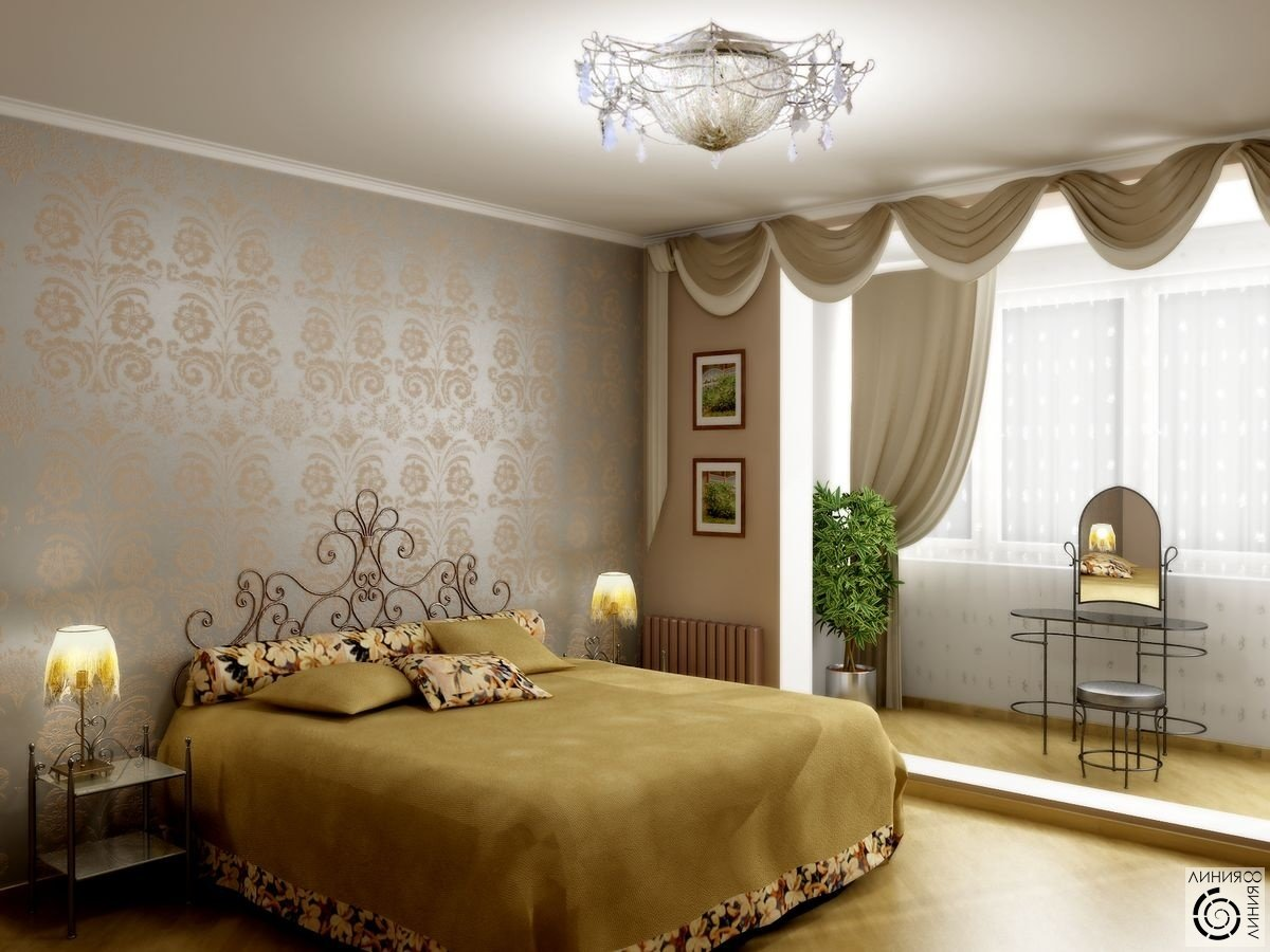Дизайн спальни 12 кв. м в современном стиле - реальные фото .