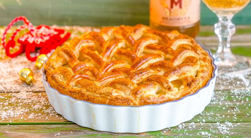 Творожный пирог с слоеным тестом рецепт фото