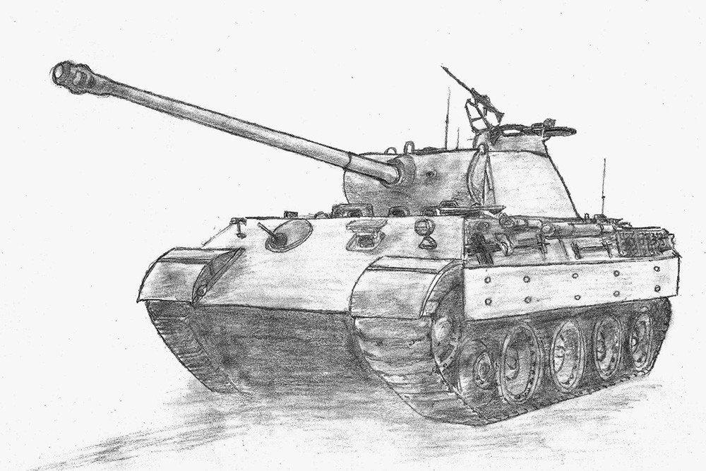 Срисовать картинки танки