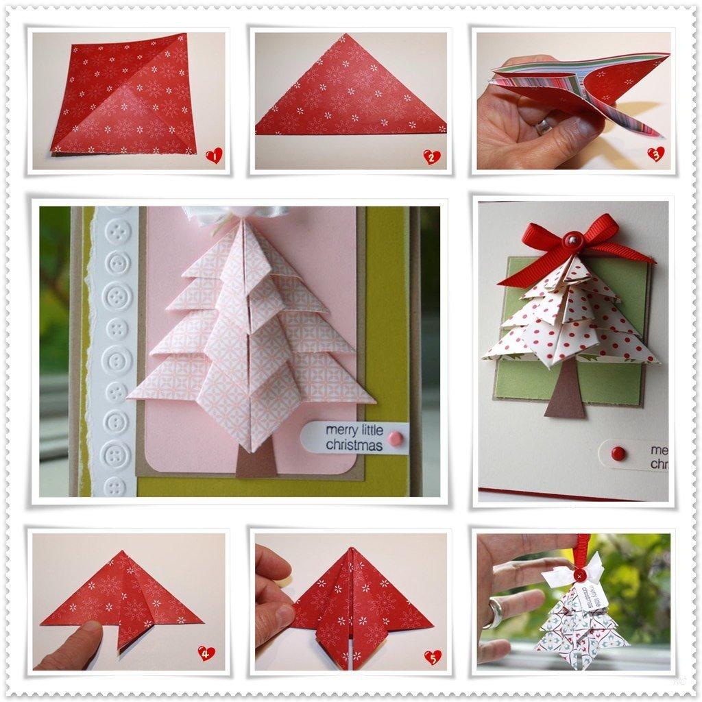 Оригами открытки на новый год, картинки