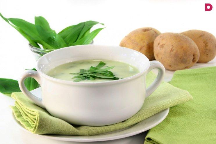 Французский чесночный суп с мускатным орехом