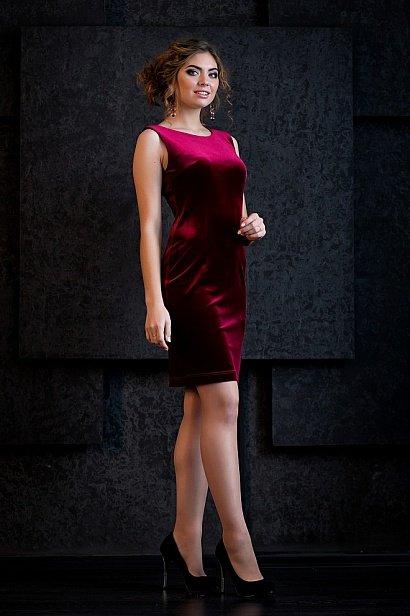 Бархатные платье цвета марсала