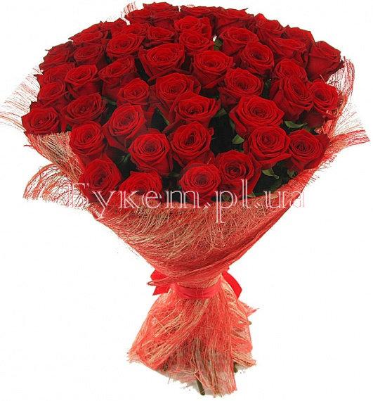 51 красная роза - Букет