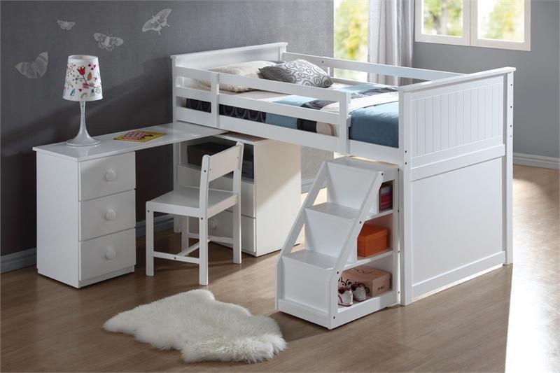 маленькая детская комната идеи дизайна кровать на втором этаже