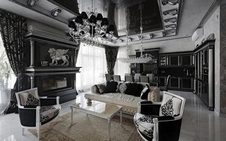 интерьер гостиной № 22256, автор - Архитектурная студия Соколовых на сайте InteriorExplorer.ru