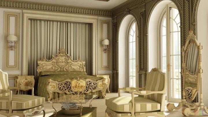 Роскошный викторианский стиль массивная кровать