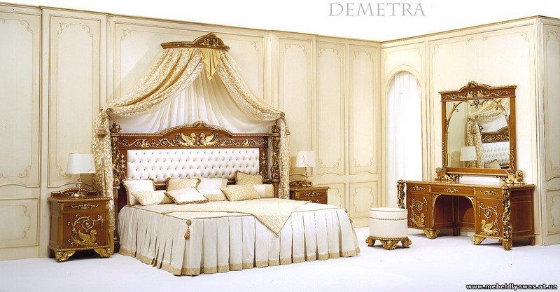 Идея белой королевской спальни