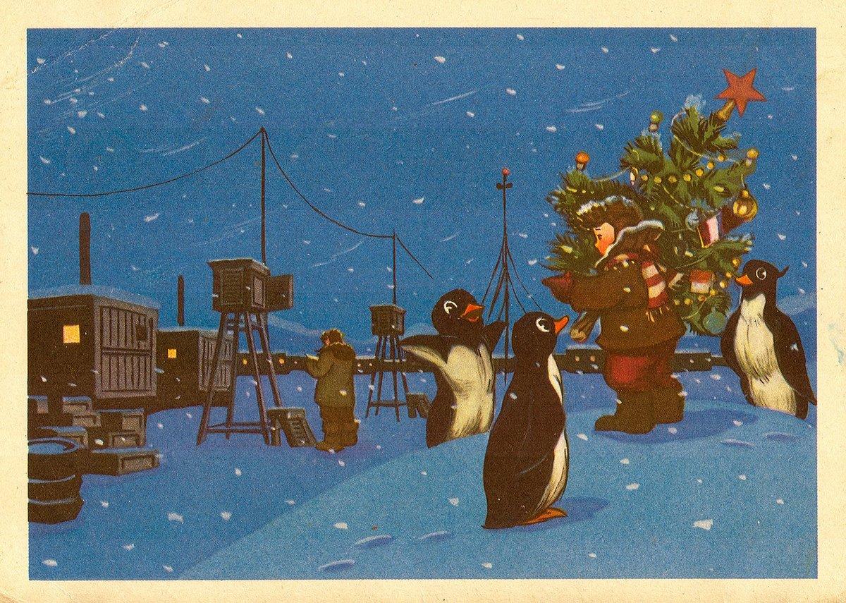Советские открытки с новым 1966 годом