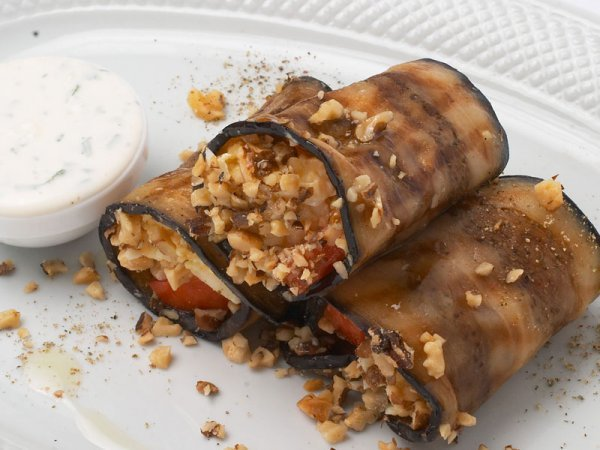 Рецепт баклажан грецкими орехами фото