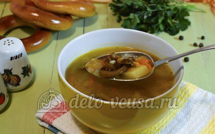 суп с опятами рецепт с фото