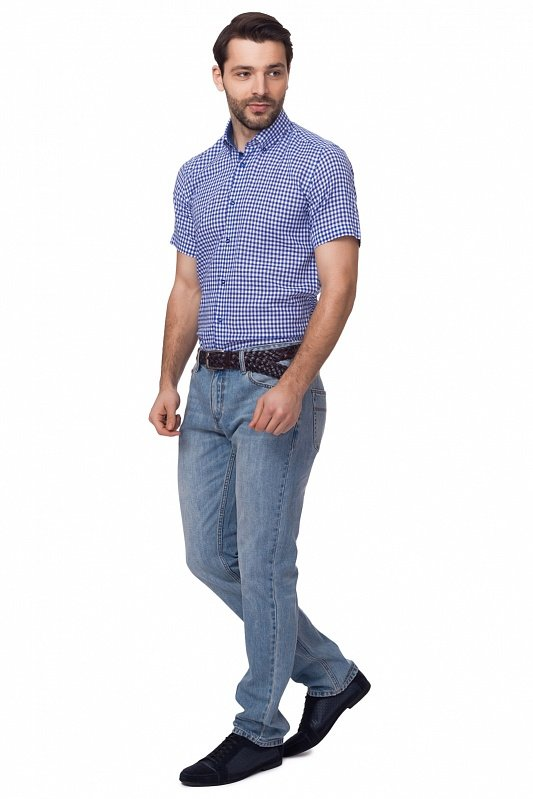 d230adb2dfe2404 Приталенная рубашка из хлопка с коротким рукавом KANZLER» — карточка ...