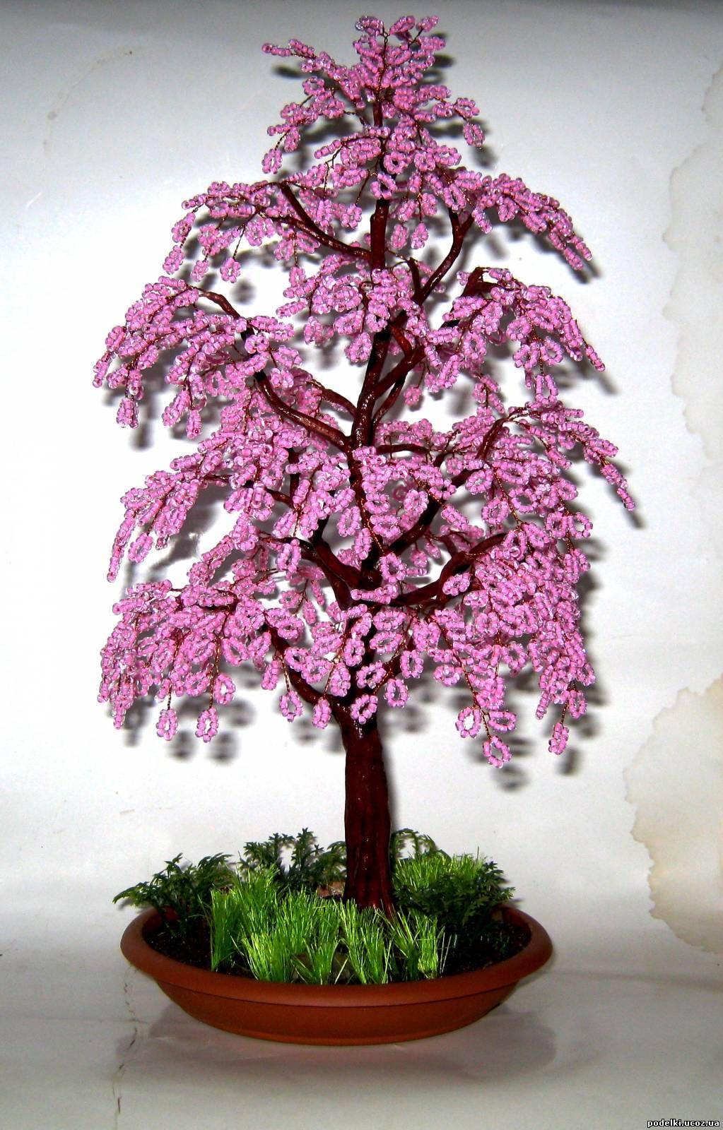Как сделать дерево из бисера своими руками? Дерево из бисера
