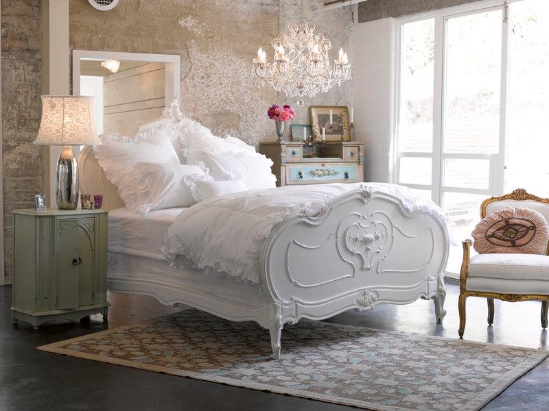 Стиль шебби в спальне