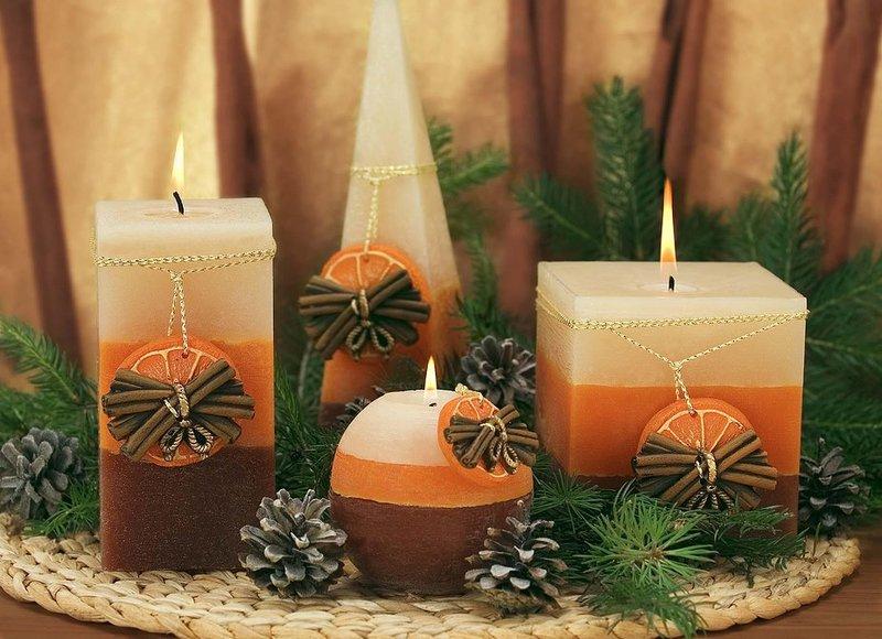 Свечи новогодние арома своими руками