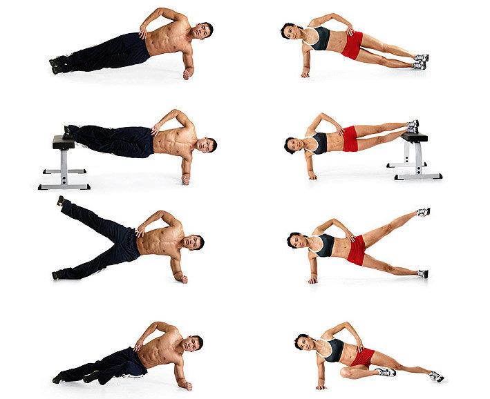 Упражнения для боков и живота картинками