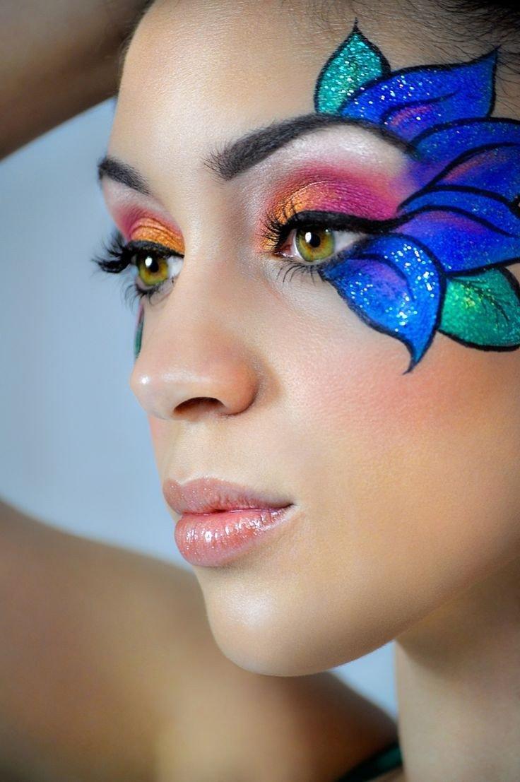 есть макияж глаз аквагримом фото листовок содержит
