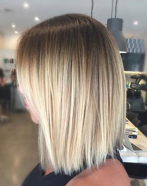 Балаяж фото на прямых волосах