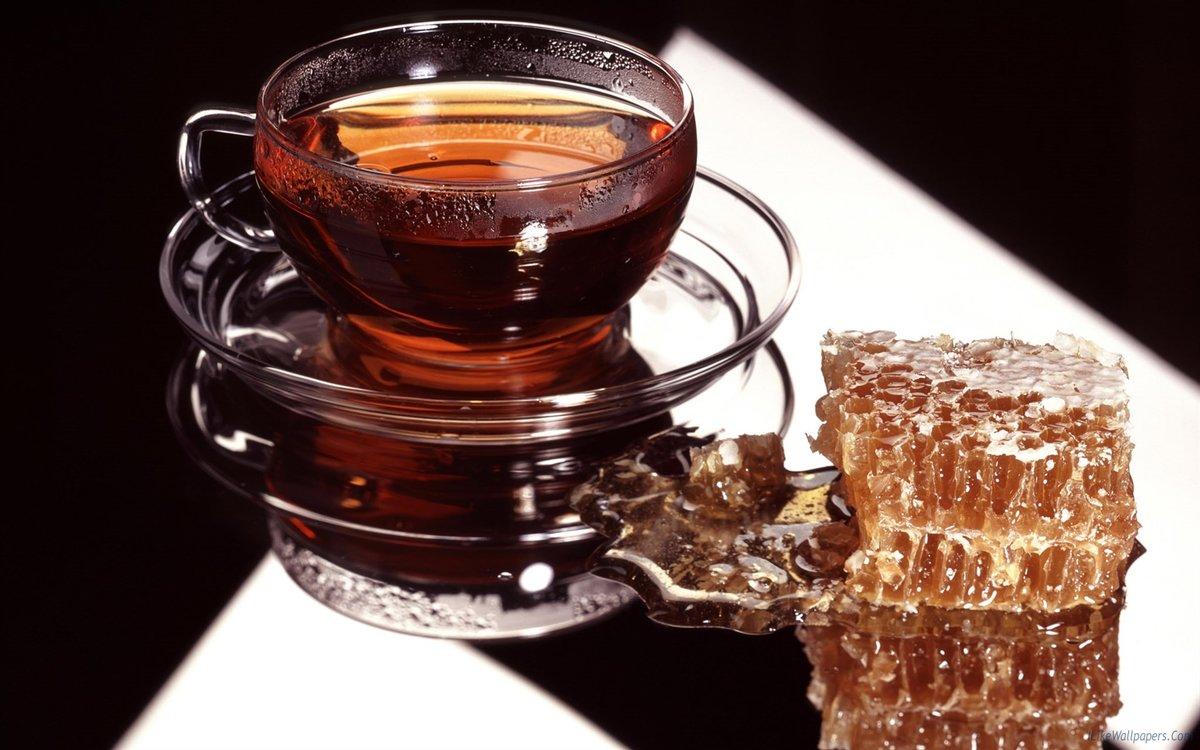 Днем, открытки с чаем и медом