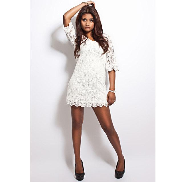 Гипюровые платья белое фото