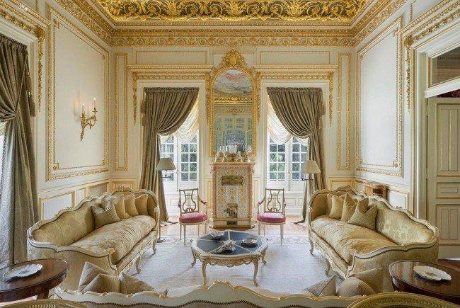 Ампир в интерьере – стилевое направление, гостиная.