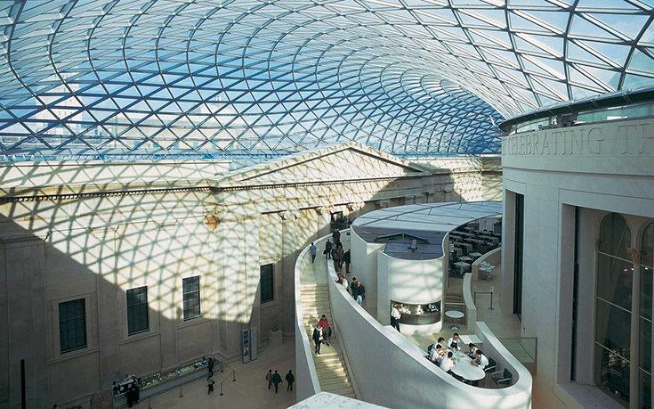 Большой двор Британского музея. Архитектор Норман Фостер, 1994-2000