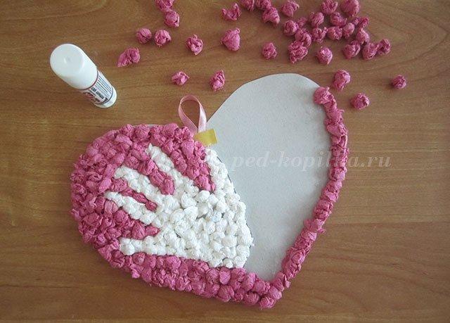Поделка своими руками из бумаги сердце