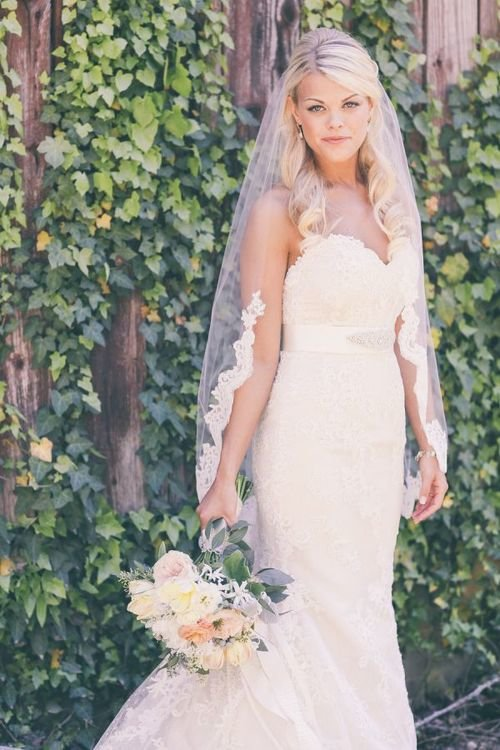 фото невесты блондинки