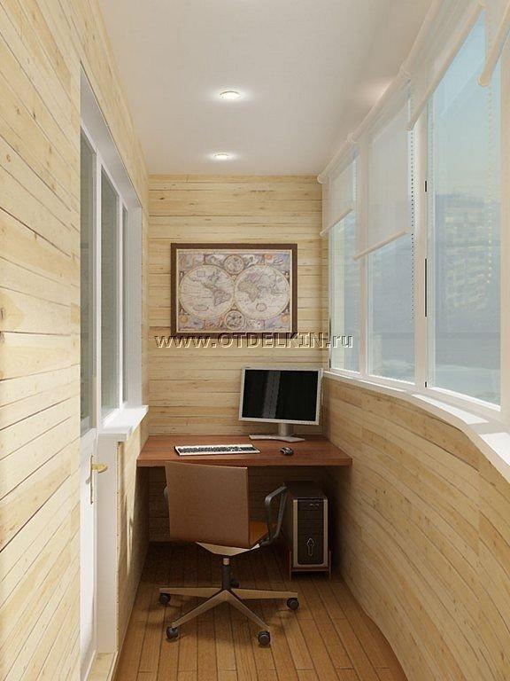 Дизайн маленький балкон кабинет