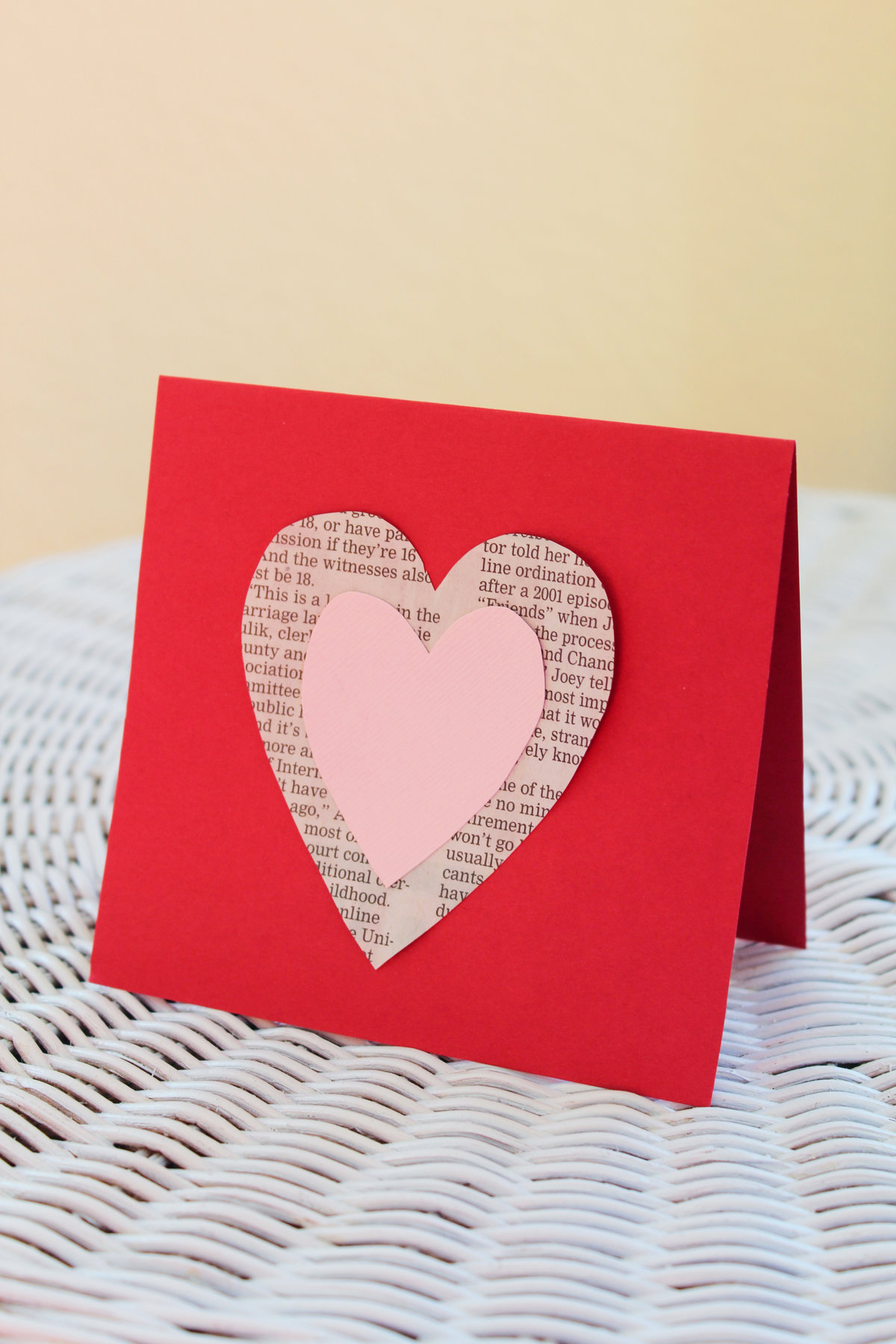 Самодельная открытка из сердечек