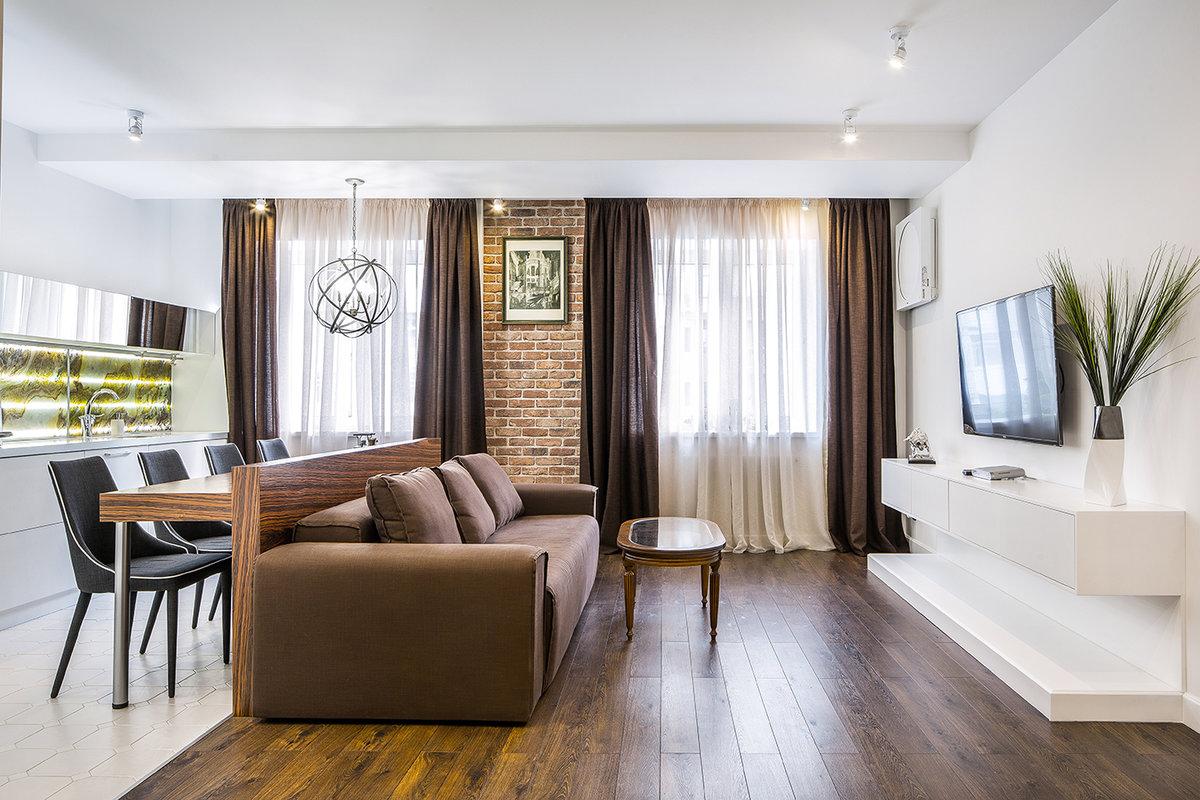 Современный дизайн холостяцкой квартиры в городе Самаре