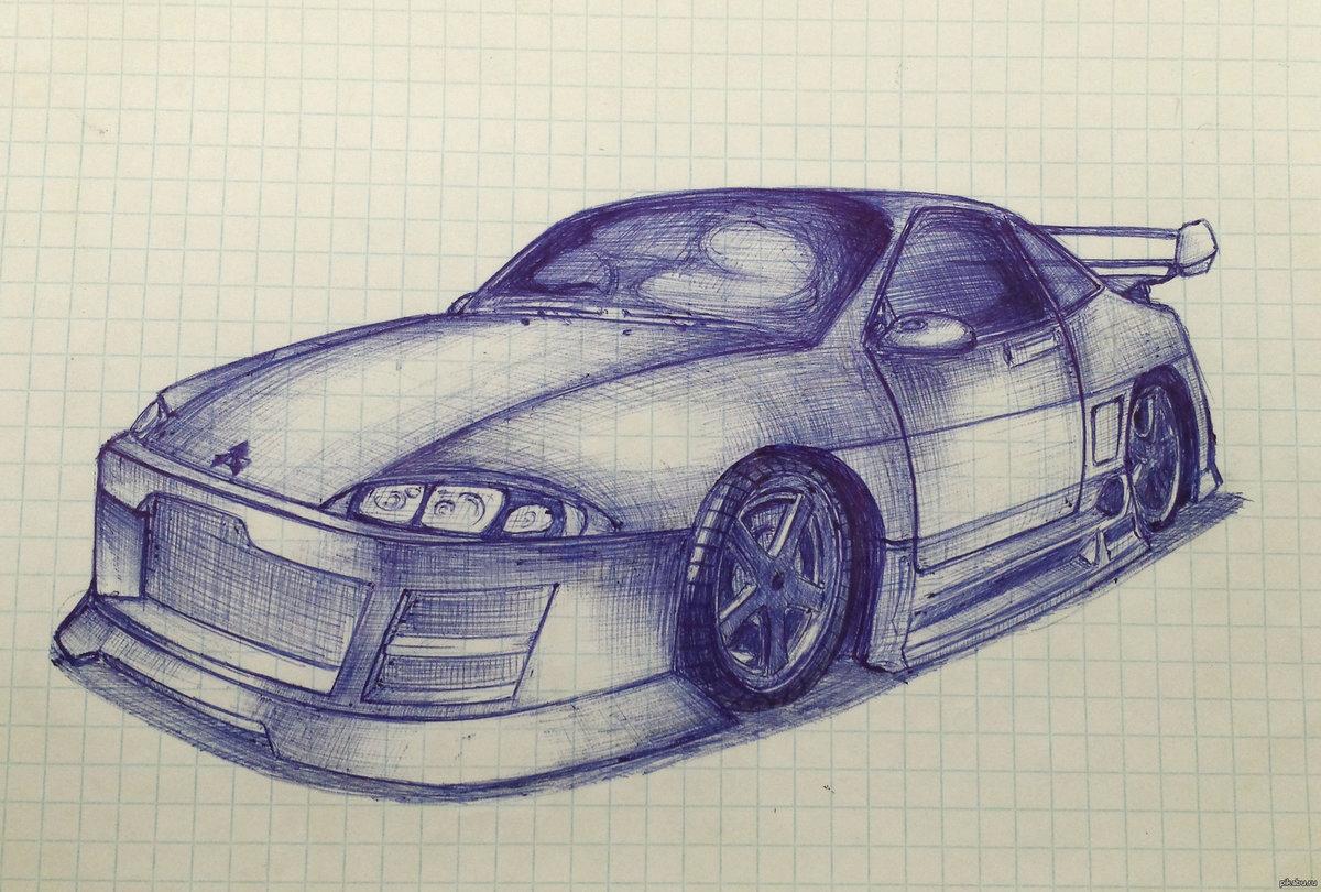 картинки нарисовать машину крутую приходя