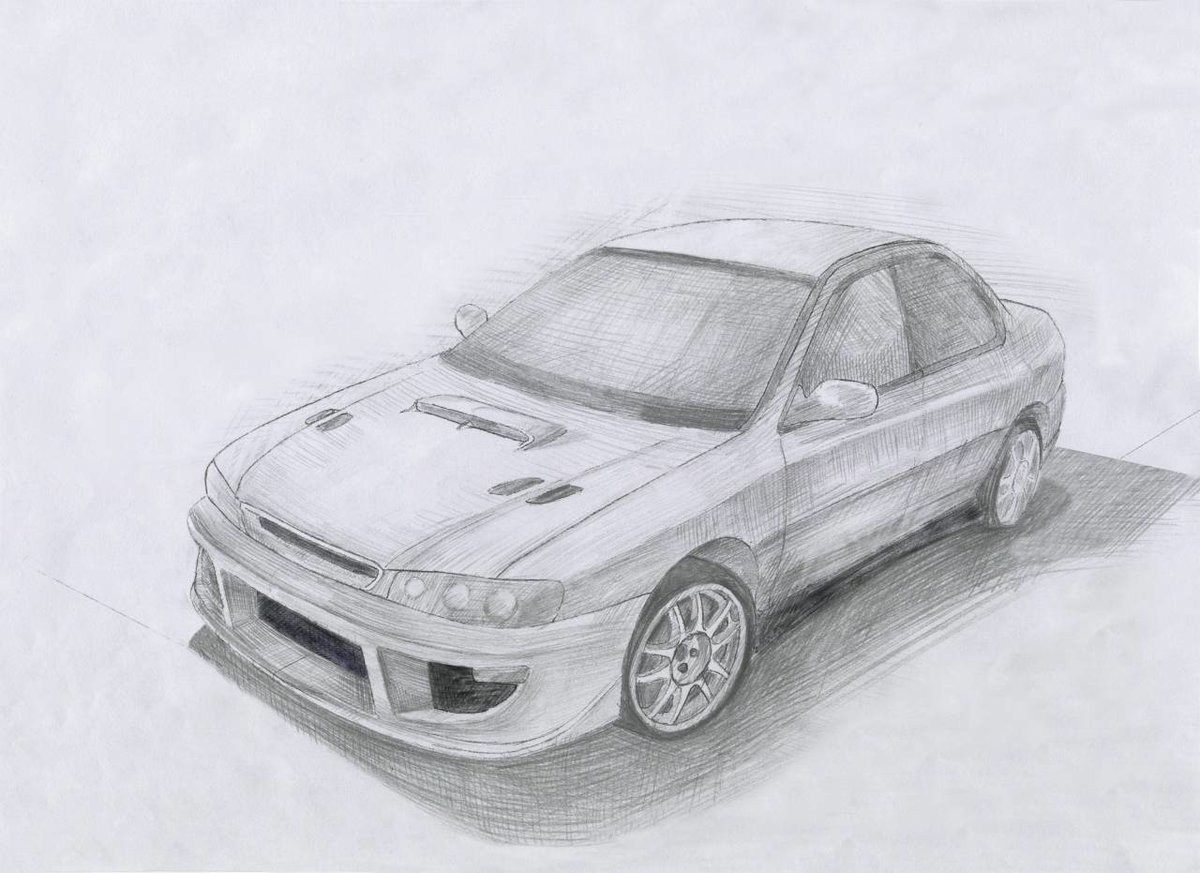 Нарисованная машина карандашом картинки
