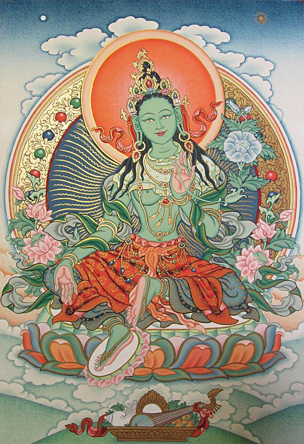 внимание привлекает зеленая тара в буддизме картинки собрали много железа