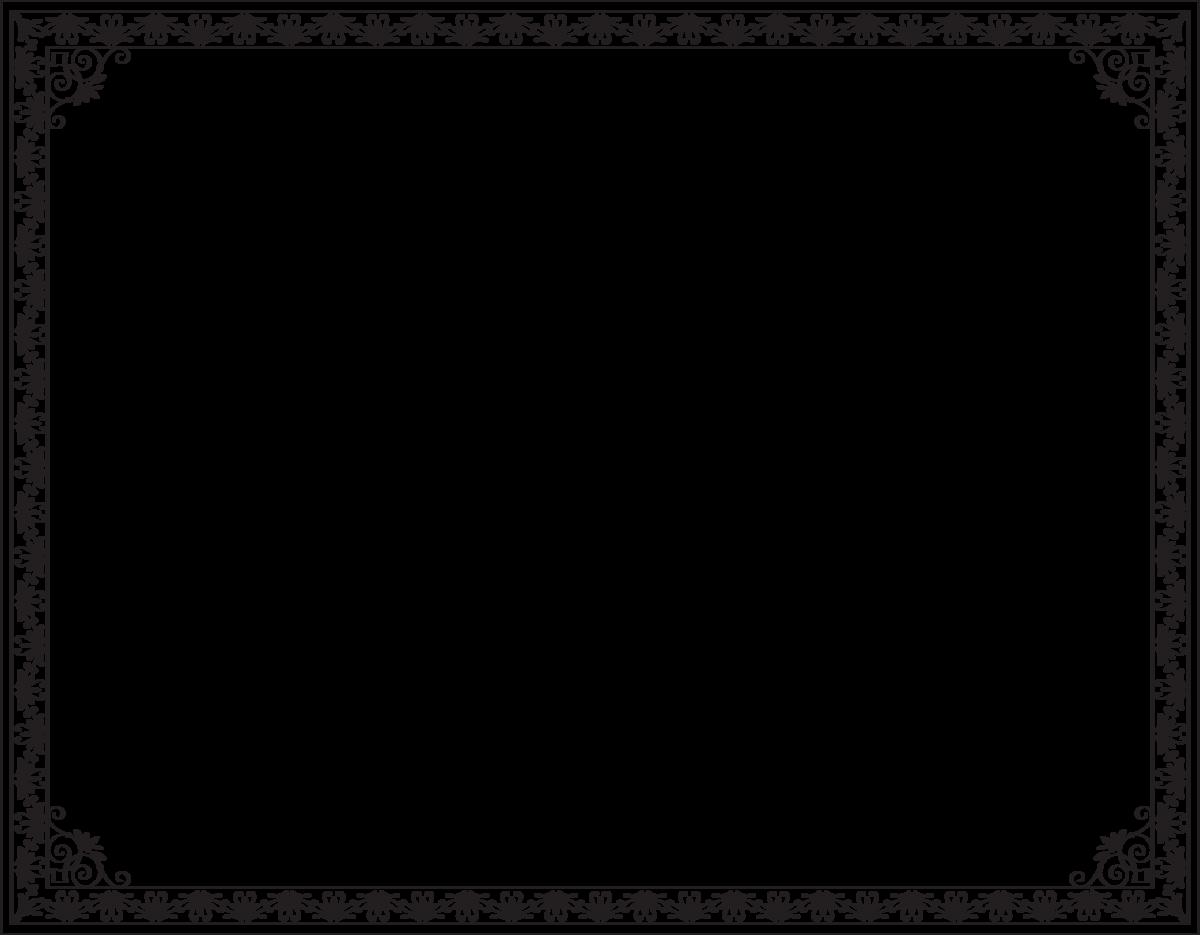 Чёрная рамка для поздравления фото 266