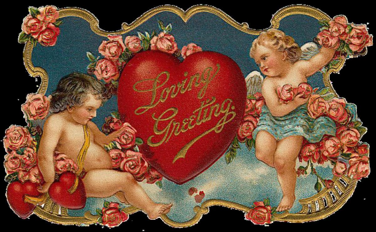 Амуры открытка, сердечко открытки картинка