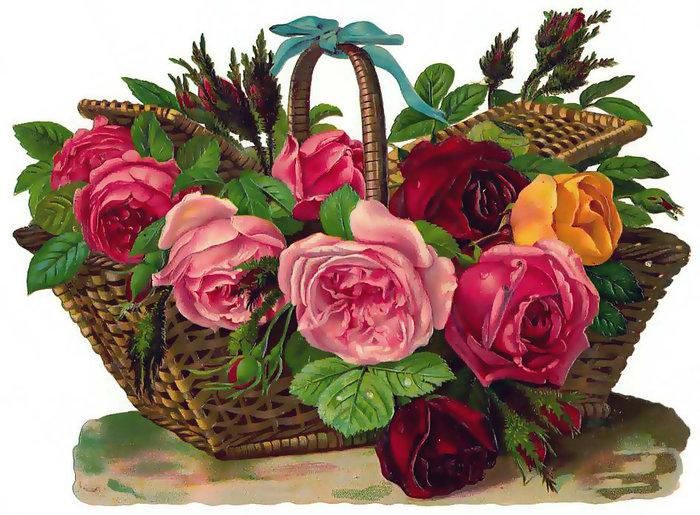 Прикольные картинки, корзины цветов картинки мерцающие
