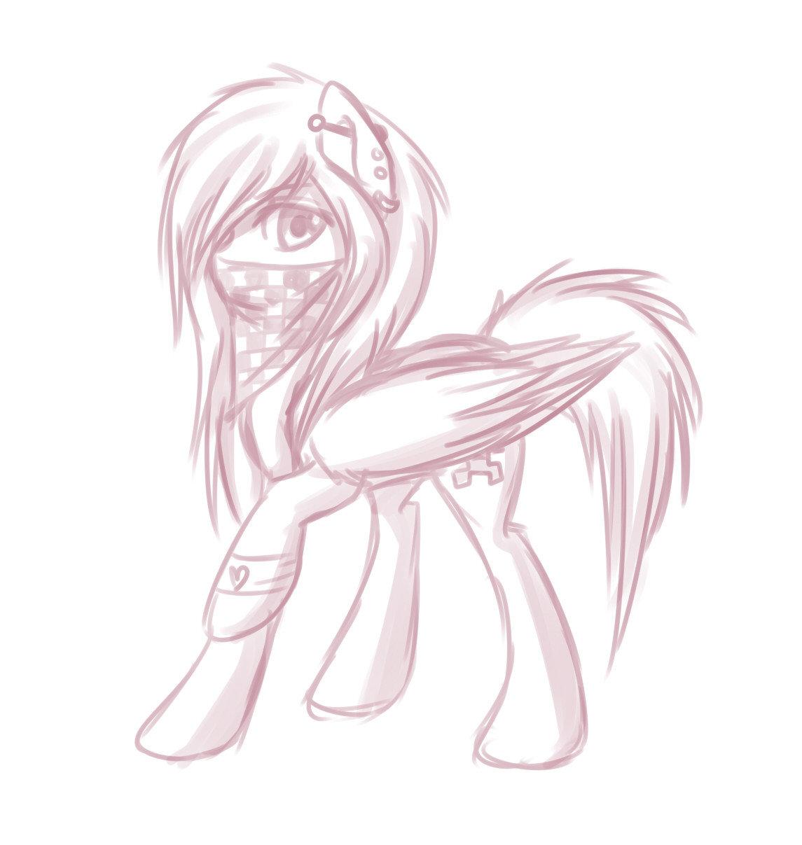 картинки манекены пони для рисования карандашом давно живёте