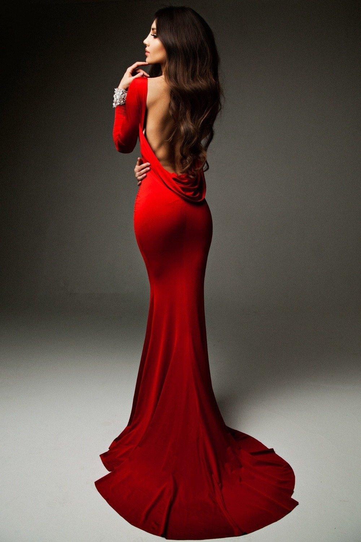 Скрапбукинг, картинки женщина в красном платье со спины