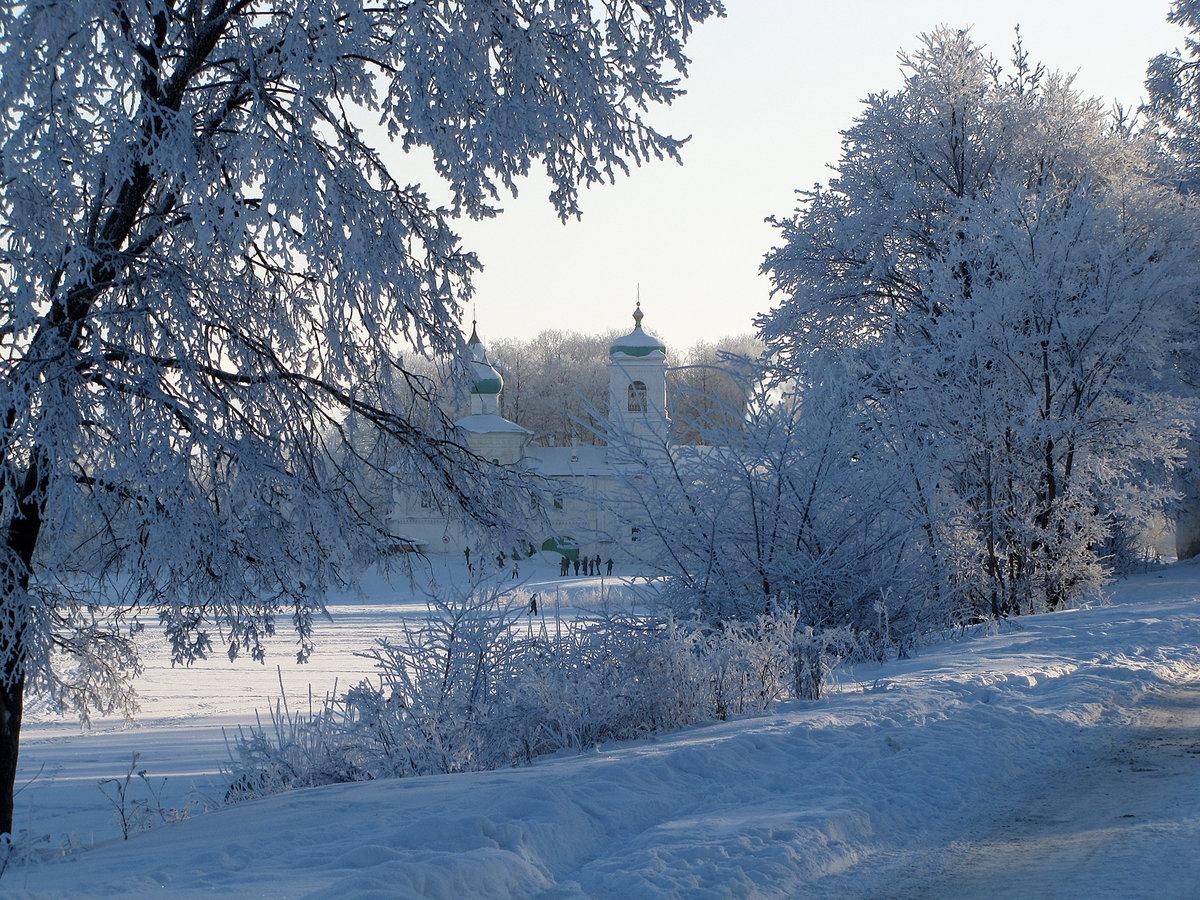Псков зимой фото