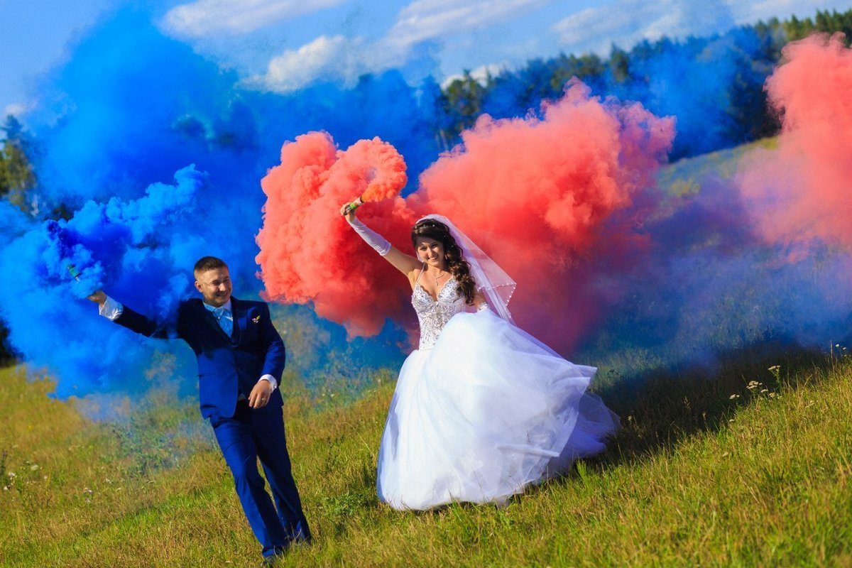 первой свадебные фото с дымовыми шашками отзывы новые