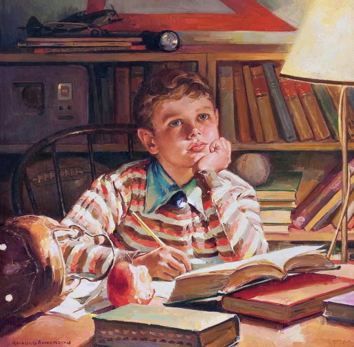 Открытки дети в библиотеке