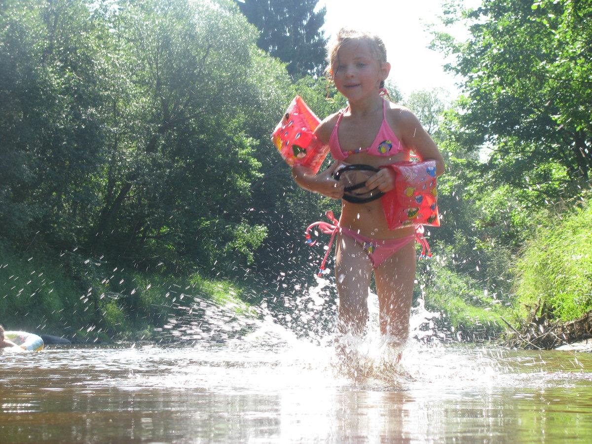 Картинки дети летом на речке