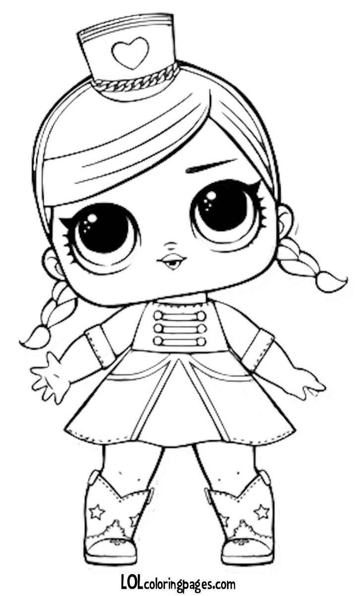 Free majorette printable coloring page lol surprise doll c card