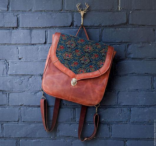 Авторский кожаный рюкзак