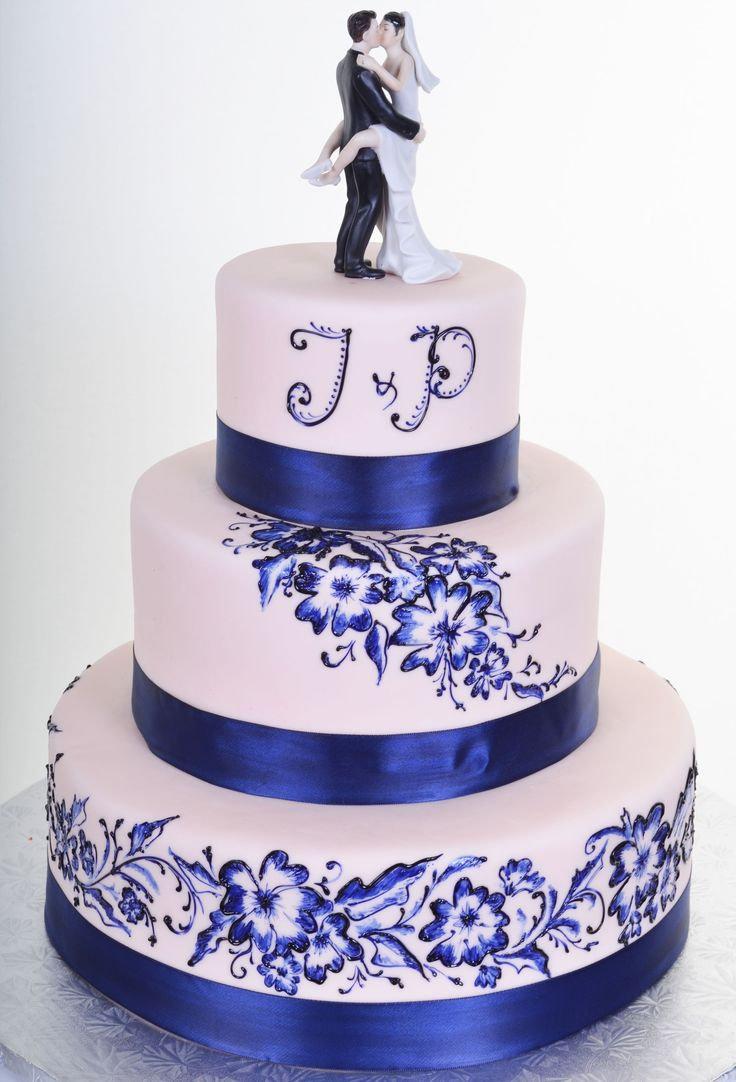 Картинки свадебного торта в синем цвете, поздравление