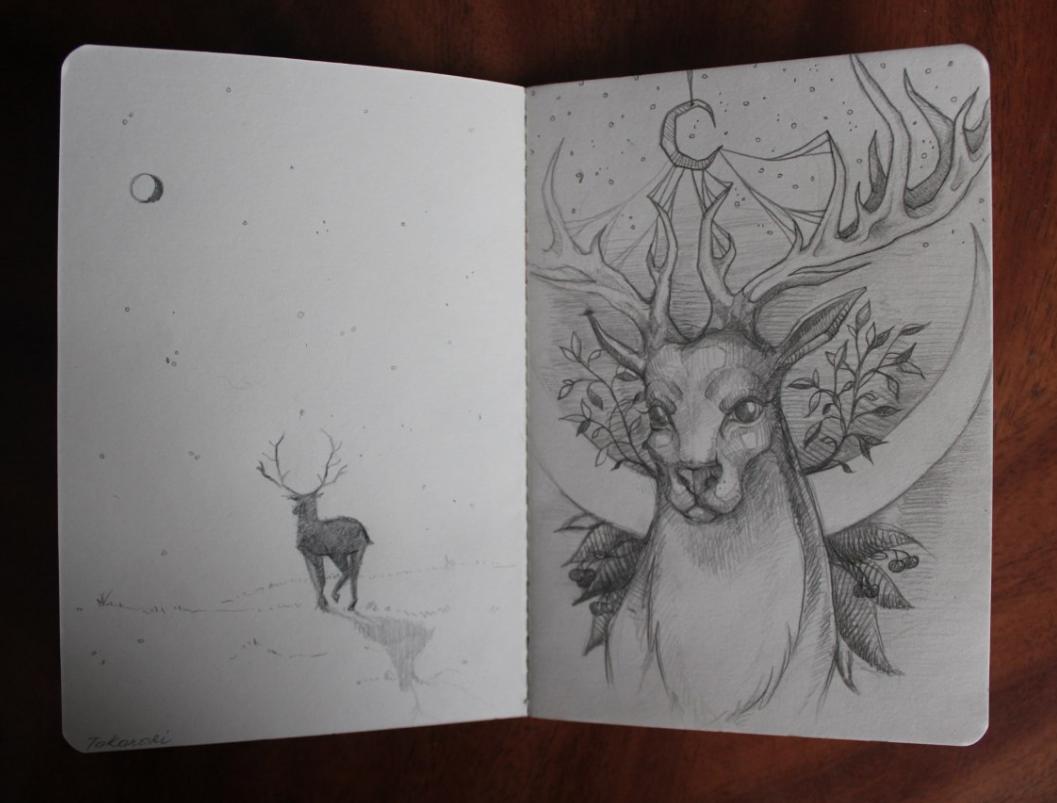 вновь правильно сказочный олень картинки карандашом хотите
