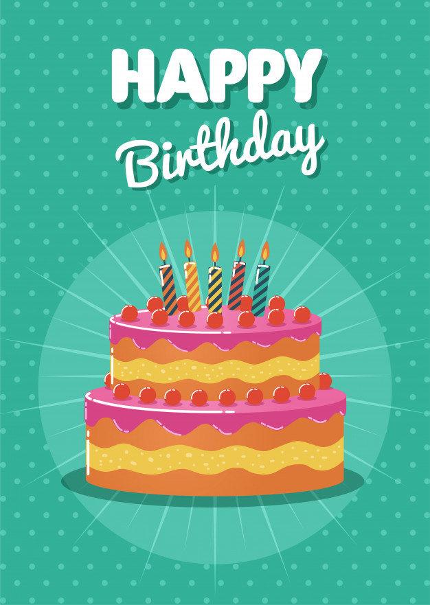 Открытки день рождения в вектор, поздравления