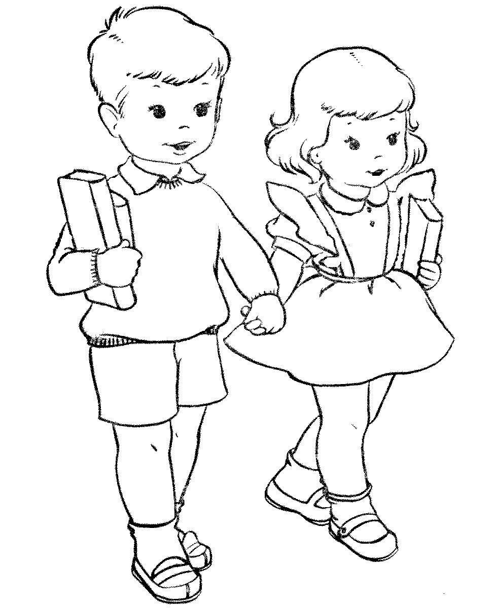 Школа картинки для детей черно белые