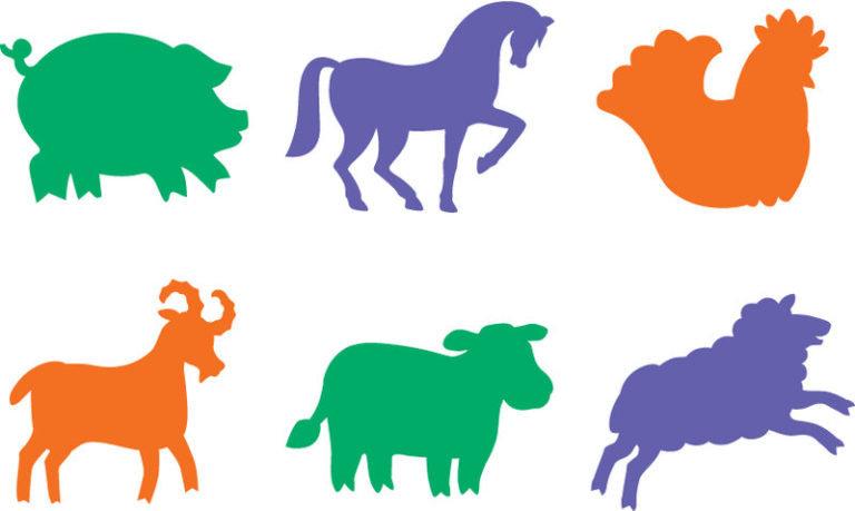 Животные картинки для детей для вырезания
